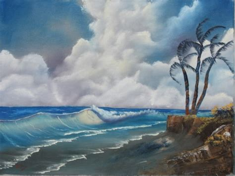 bob ross painting waves landscape classes landscape painting classes
