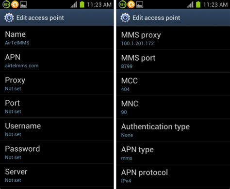 apn settings android how do i setup on my mobile