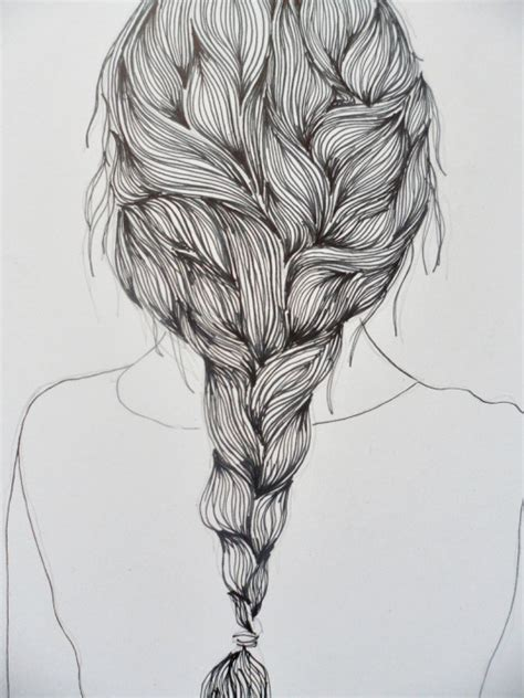 sketches of hair hair drawing on tumblr