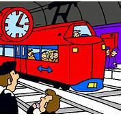 Dibujo De Estaci&243n Ferrocarriles Pintado Por D
