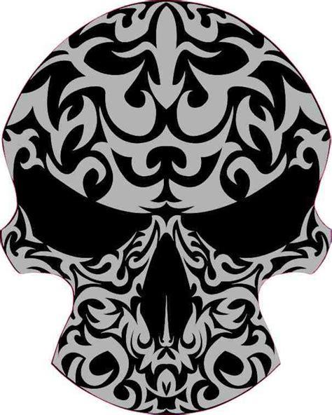 Tribal Sticker Skull by 4 X 5 Black And Gray Tribal Skull Bumper Sticker Car Vinyl