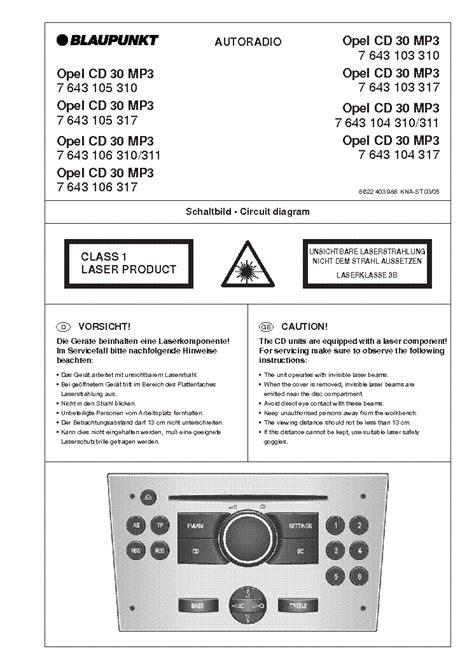 Blaupunkt Cd30 Mp3 Opel Service Manual Download