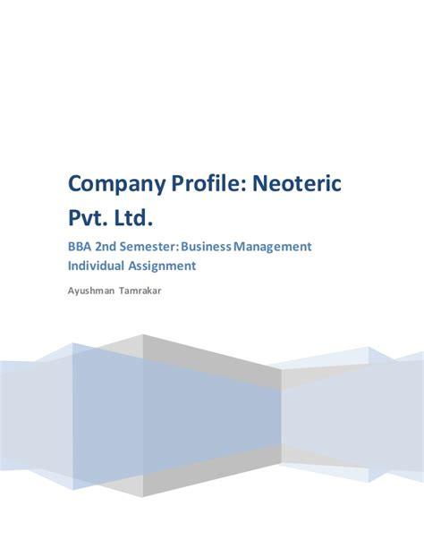 Detox Corporation Pvt Ltd Kutch by Company Profile Neoteric Pvt Ltd