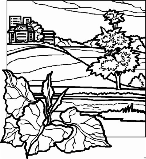 printable coloring pages landscapes landscape coloring pages to print coloring pages