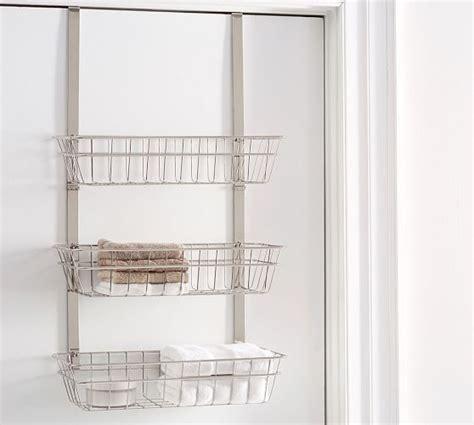 Triple Shelf Over The Door Storage Pottery Barn The Door Shelves For Bathroom