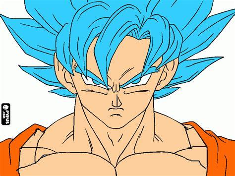 goku ssj dios azul goku ssj dios a para colorear goku ssj dios a para imprimir