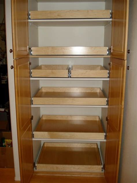 Kitchen Pantry Slide Out Shelving by 17 Best Ideas About Pull Out Shelves On Pull