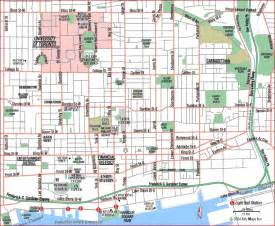 road map of toronto center overall toronto canada