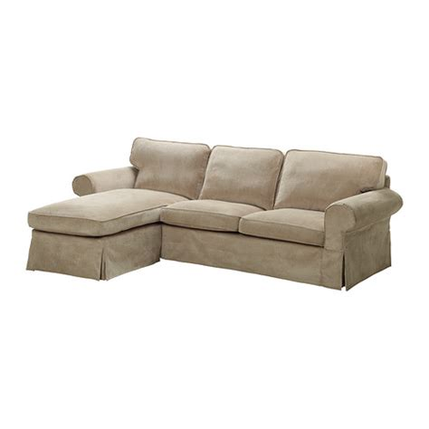 Ektorp Two Seat Sofa And Chaise Longue Vellinge Beige Ikea