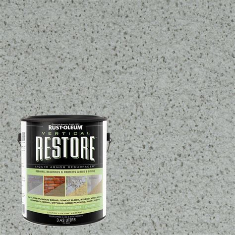 rust oleum restore 1 gal blue sky vertical liquid armor resurfacer for walls and siding 43103