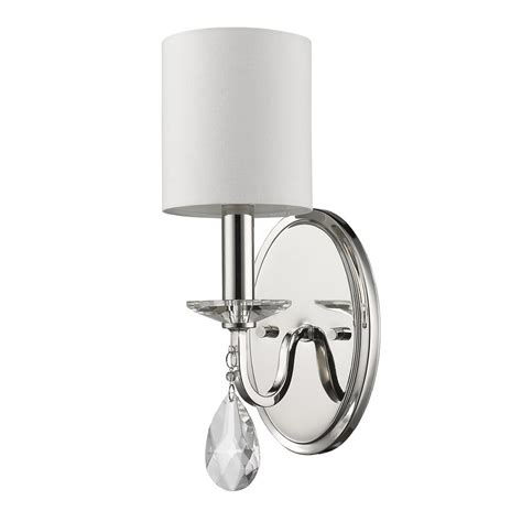 Polished Nickel Sconces by Acclaim Lighting 3 Light Polished Nickel Sconce With