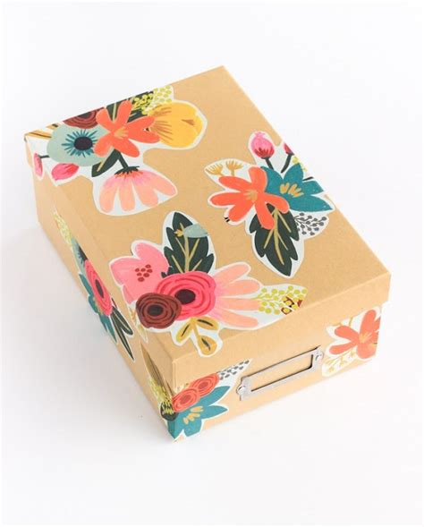 Decoupage A Box - 15 diy storage bins cool to hide away thegoodstuff