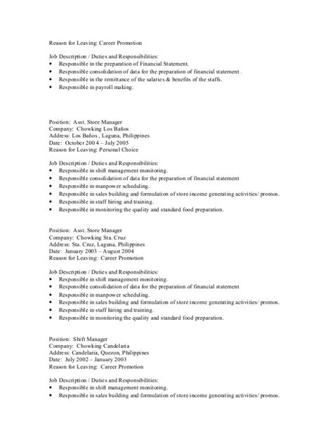 Resume Reason For Leaving by Reason For Leaving A Resume Resume Ideas