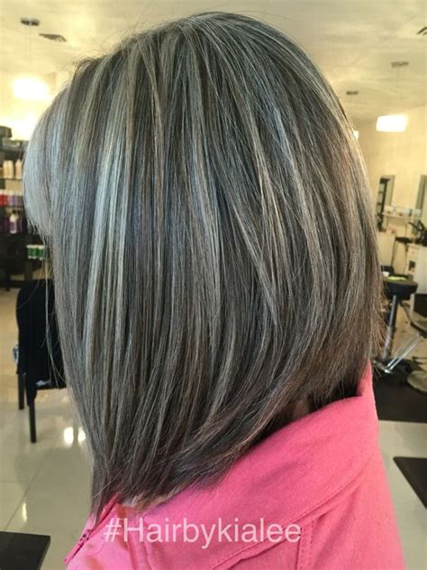 white highlights to blend in gray hair pinterest the world s catalog of ideas
