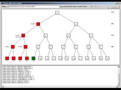 alpha beta pruning algorithm by thundax software youtube