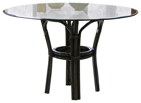 Tropical Dining Table Panama Sanibel Banana Leaf Glass Top Dining Table Tropical Dining Tables