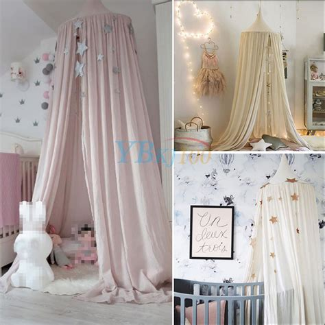 kids canopy bed curtains kids baby bedding round dome bed canopy netting bedcover