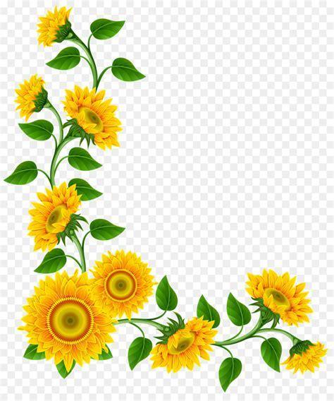 Sunflower Corner Png png download   1346*1600   Free