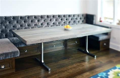 grey rusticmodern dining table abodeacious