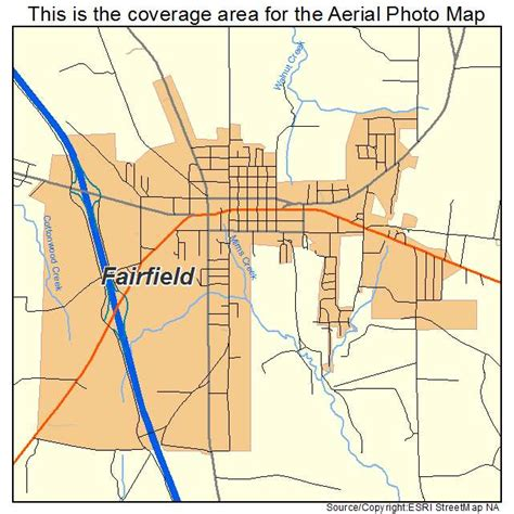 fairfield texas map aerial photography map of fairfield tx texas