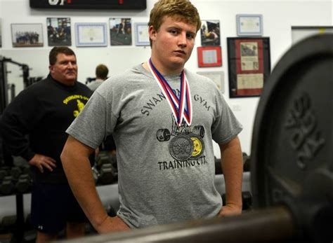 gary weightlifting at 15 huntley has five world weightlifting records