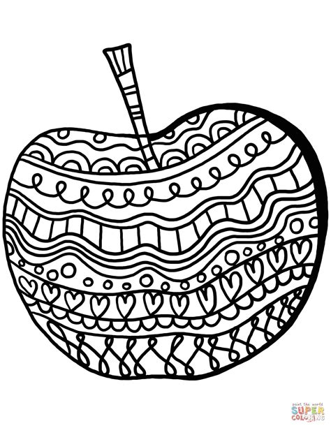 free printable coloring pages apple apple with pattern coloring page free printable coloring