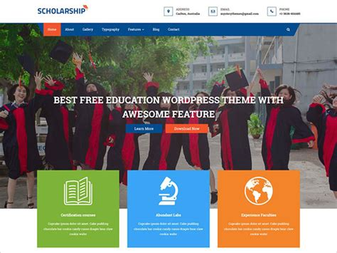 theme for education seminar 20 best free wordpress themes of 2018 for schools