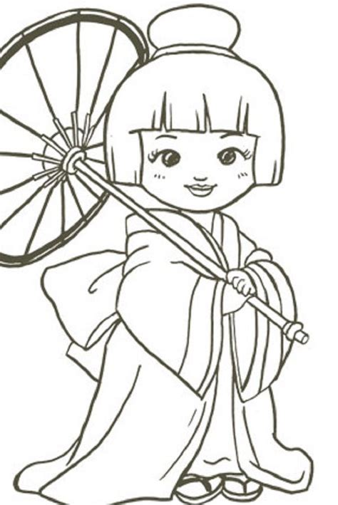 Japanese Colouring Pages Coloring Pages