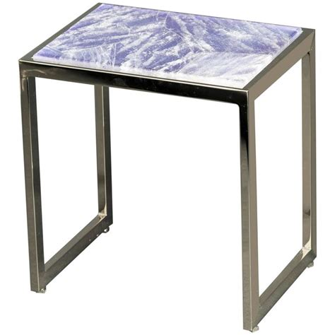 Quartz Side Table Hyaline Violet Quartz Side Table By Giuliano Tincani Made In Italy For Sale At 1stdibs