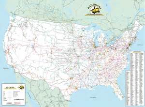 Railroad Map Of The United States by Deskmap Systems Printed Railroad Maps Geographical