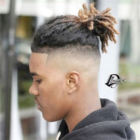 mens afro faded sides long on top hairstyles black men haircuts stylish guide of 2016
