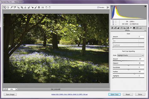 adobe photoshop vignette tutorial how to use adobe camera raw 6 advanced photoshop free
