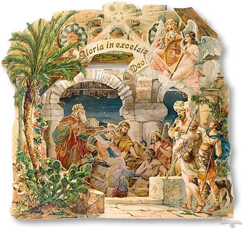 pop up nativity advent book calendar victorian vintage
