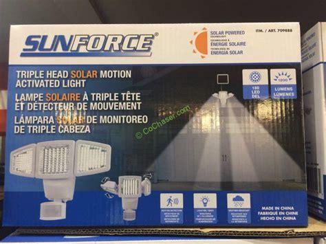 security light with costco costco 709888 sunforce solar motion security light box