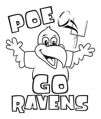 the stylish baltimore ravens coloring pages with regard to