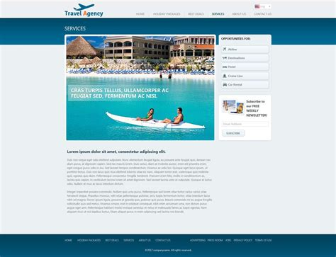 free travel website template travel website template free travel agency website