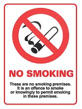 no smoking signage requirements scotland smoking legislation safety signs scottish no smoking