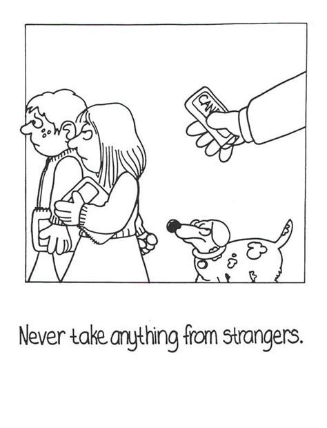 stranger danger coloring pages az coloring pages