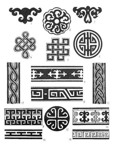mongolian tattoo designs mongol motifs mongol ornaments texts and