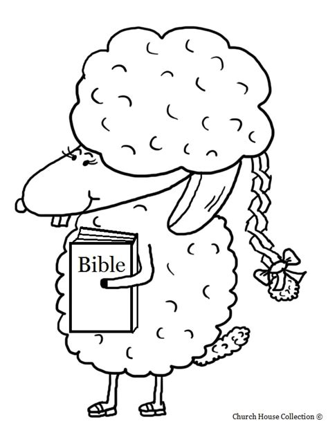 Church House Collection Blog Easter Sheep With Braided Coloring Pages For Sunday School