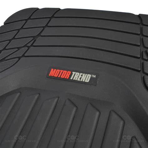 motortrend deep dish rubber floor mats cargo set black heavy duty  piece ebay