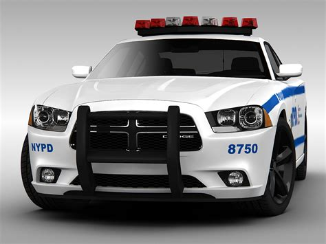 dodge charger car dodge charger nypd car 2013 3d models cgtrader