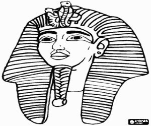 ancient masks template pharaoh coloring pages
