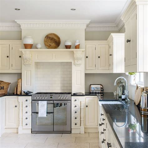 kitchen mantel ideas traditional kitchen with mantel over range cooker ideal home