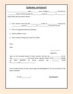 Affidavit Template Word by Free Affidavit Form Sle Pdf Word Affidavit Form