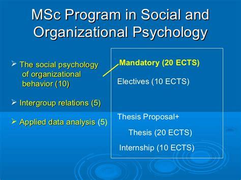 Mba Organizational Psychology Programs by Master Thesis Organizational Psychology