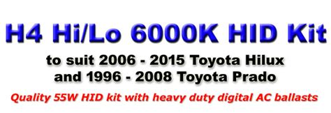 Lu Hid X toyota hilux 55w h4 hi lo 6000k bi xenon hid conversion