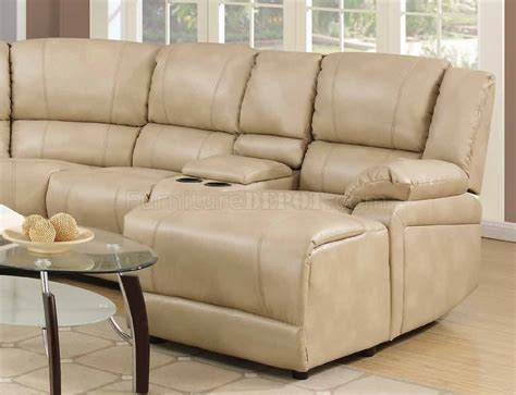 cream sectionals 8303 reclining sectional sofa in cream bonded leather w