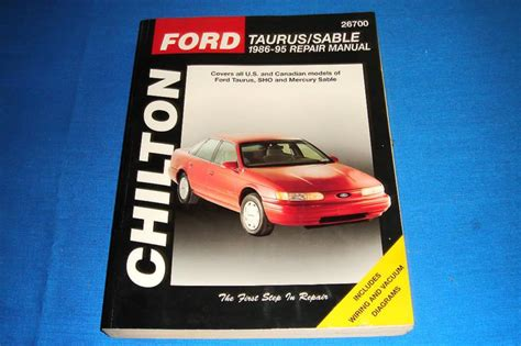 1986 1995 ford taurus and sable chilton manual northern auto parts purchase chilton ford taurus sable 1986 1995 repair manual motorcycle in lacey washington us