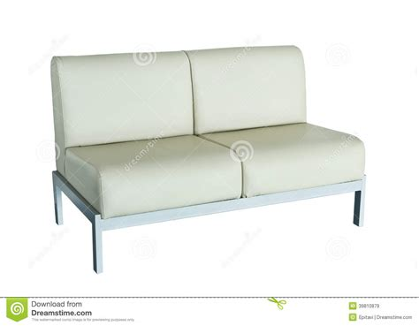 leather sofa on a white background stock photo image
